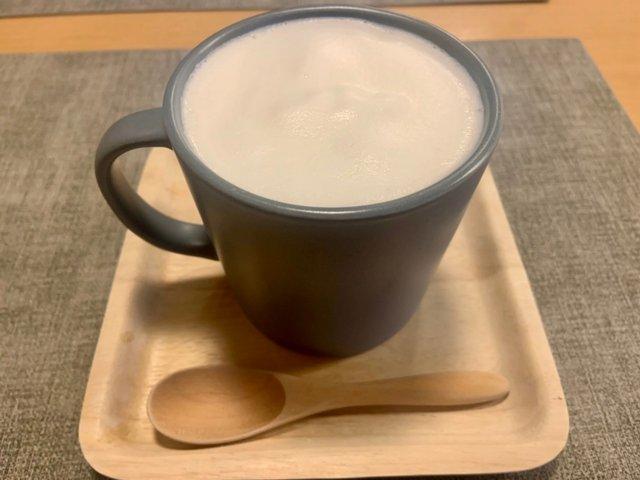 ほっこり美味しい「自家製米麹甘酒ラテ」HOT